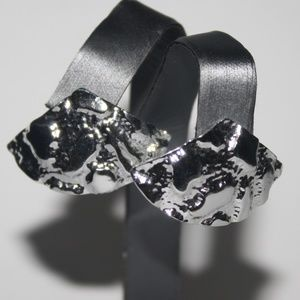 Vintage silver Fan Earrings